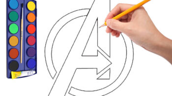 Vẽ Logo Avengers-vehoathinhcartoon-com