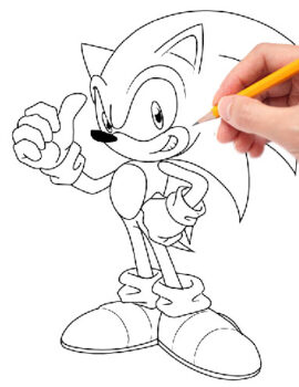 Vẽ Sonic-vehoathinhcartoon-com